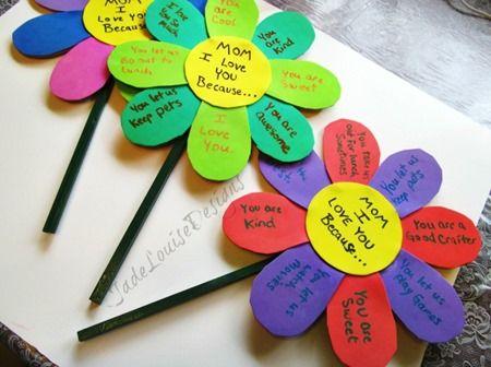Manualidades para el d a de las madres ideas para el - Trabajos manuales para ninos de primaria ...