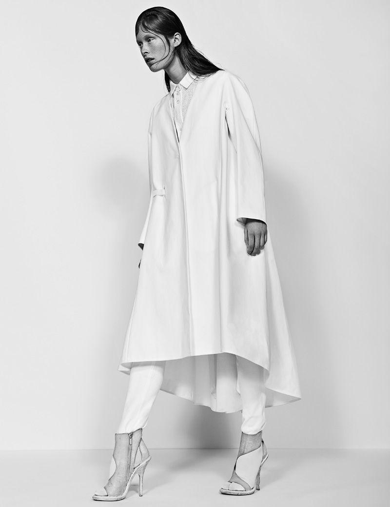 Ilva Heitmann Dons All White for SOMA Magazine by Felix Wong