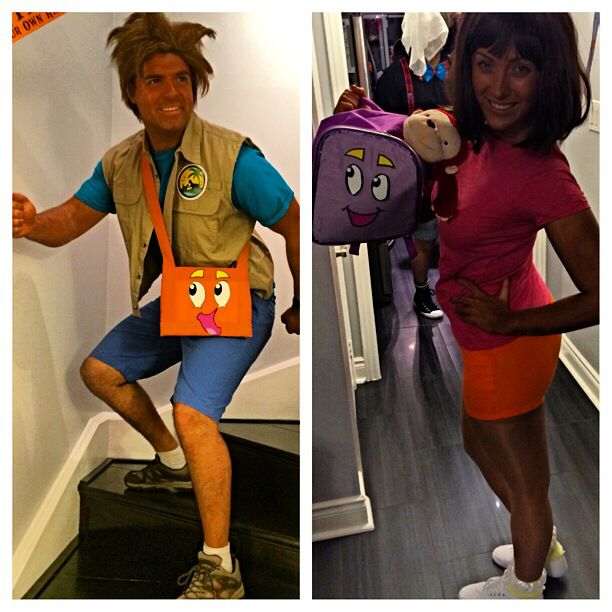 Dora and Diego adult Halloween Costumes diy