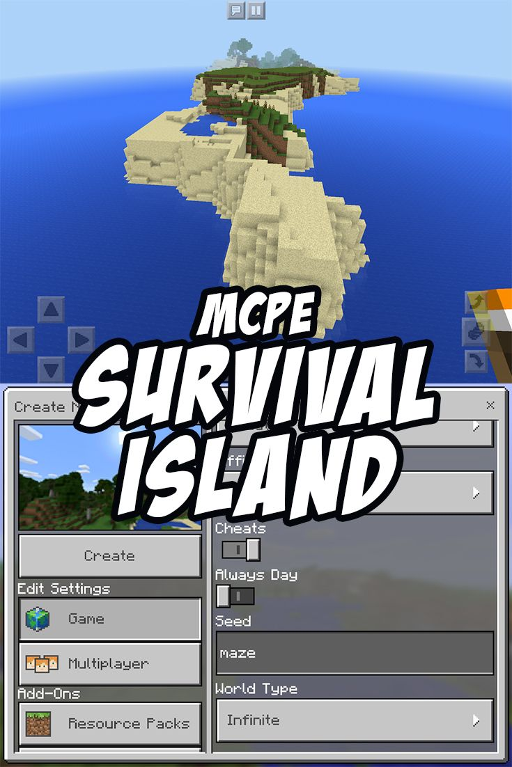 A great survival island seed for Minecraft Pocket Edition