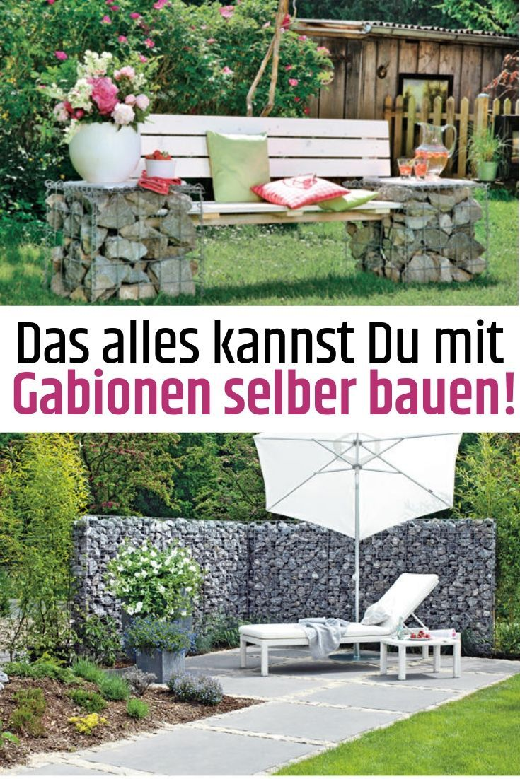 Build Gabions Yourself Build Gabions Yourself Home Garden Outdoor Furniture Sets Backyard - Gabionenbank Selber Bauen