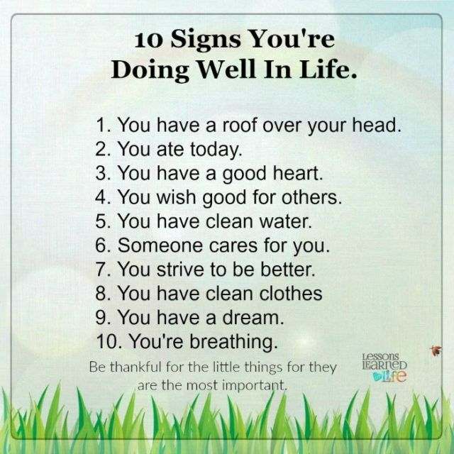 Lessons Learned in Life | 10 Signs you're doing well in life.