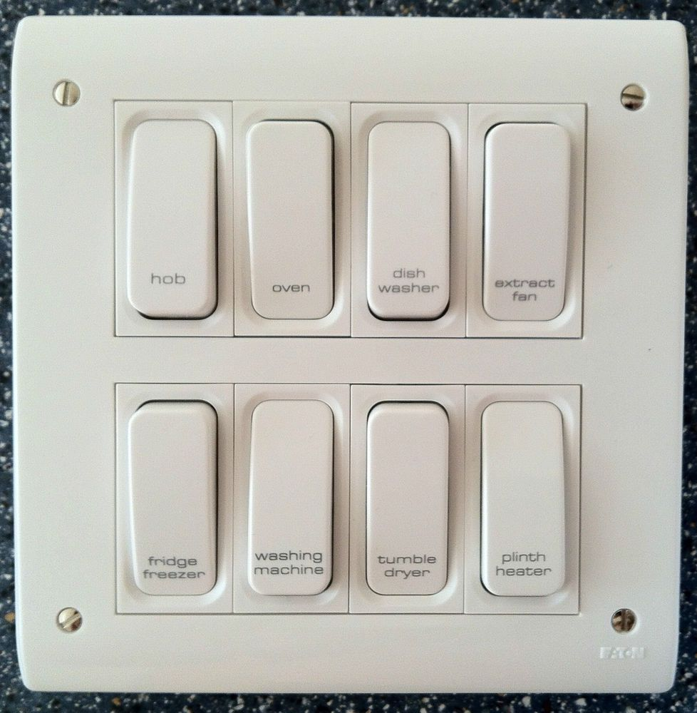 Grid Switch Multi Gang Switch Engraved Switch Printed Switch Ebay Metal Electrical Box Light Switch Wiring Grid