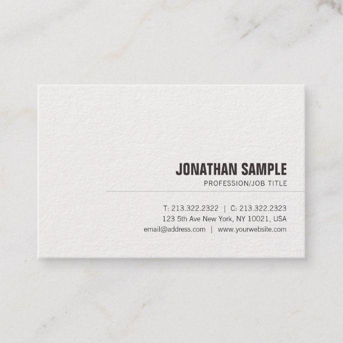 Modern Professional Elegant Simple Unique Plain Business Card Zazzle Com In 2021 Lawyer Business Card Business Cards Beauty Business Card Design