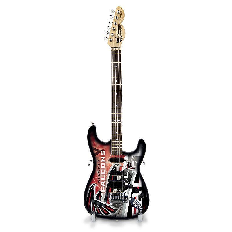 Woodrow Atlanta Falcons NorthEnder Collector Series Mini Replica Electric Guitar, Multicolor