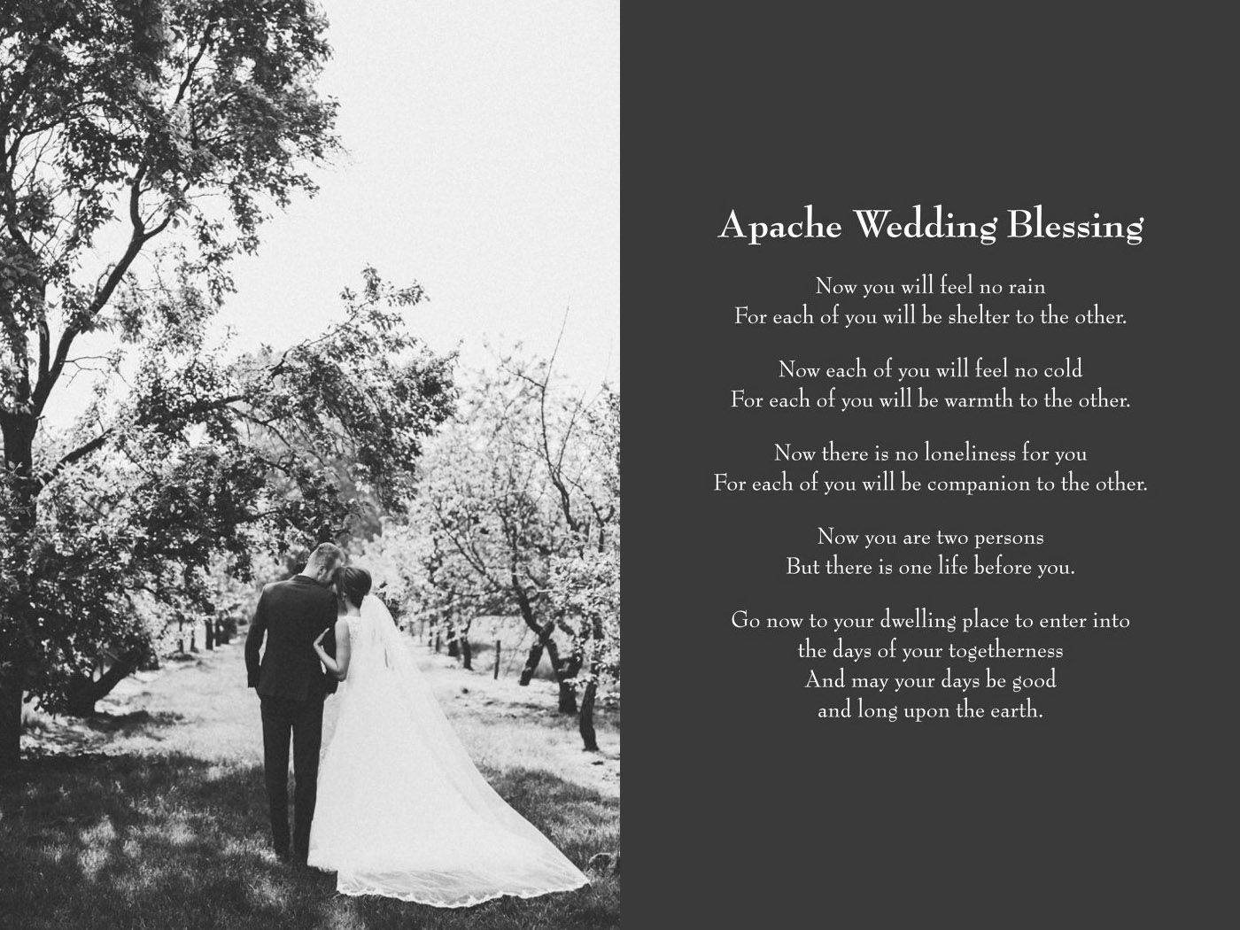 Apache Wedding Blessing Gracetheday