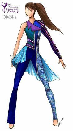 Colorgaurd On Pinterest Creative Costuming Designs Color Guard Color Guard Costumes Creative Costuming Designs Color Guard Uniforms