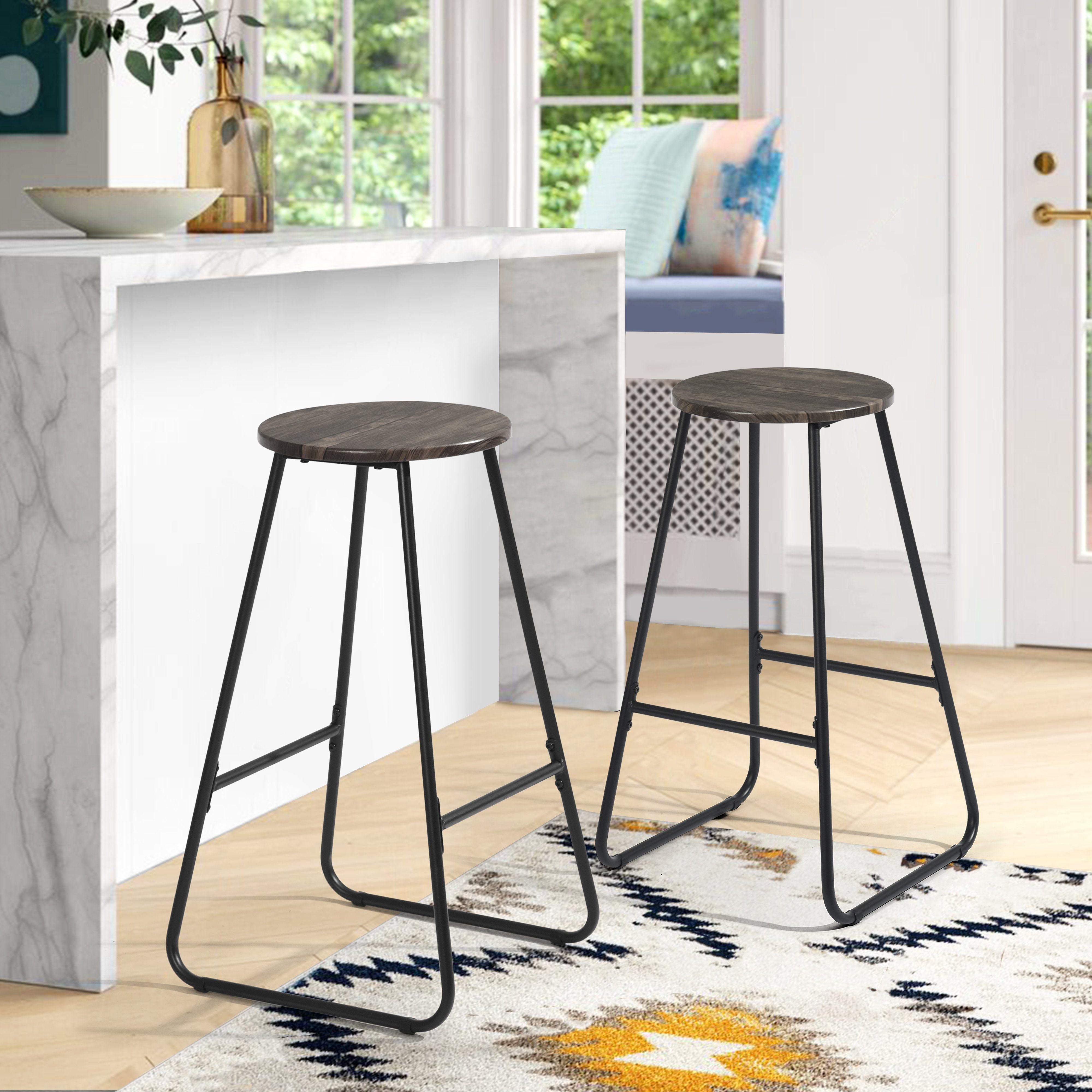 Photo of Industrial style bar stools with original frame and footrest – MORAG