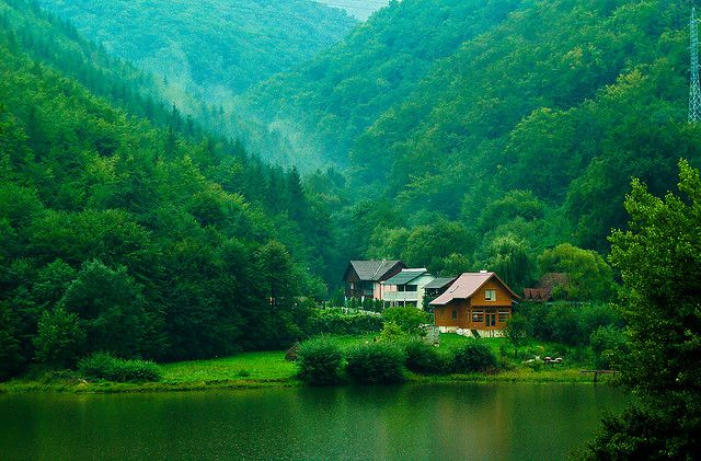 Transylvania, a historical region in the central part of Romania. Aside from vampire film adaptations, the region is also known for the scenic beauty of its landscape and its rich history.