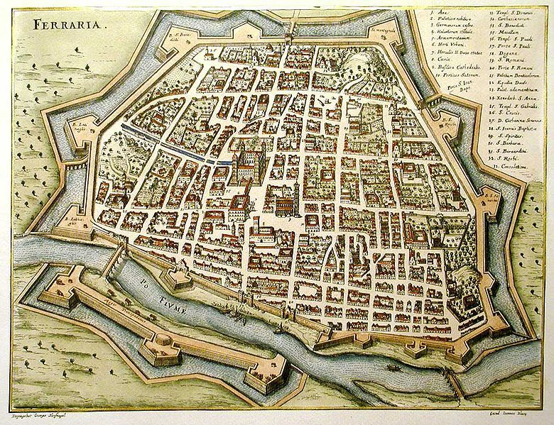 Ferrara Old Maps Pinterest Medieval And City - London map 1600
