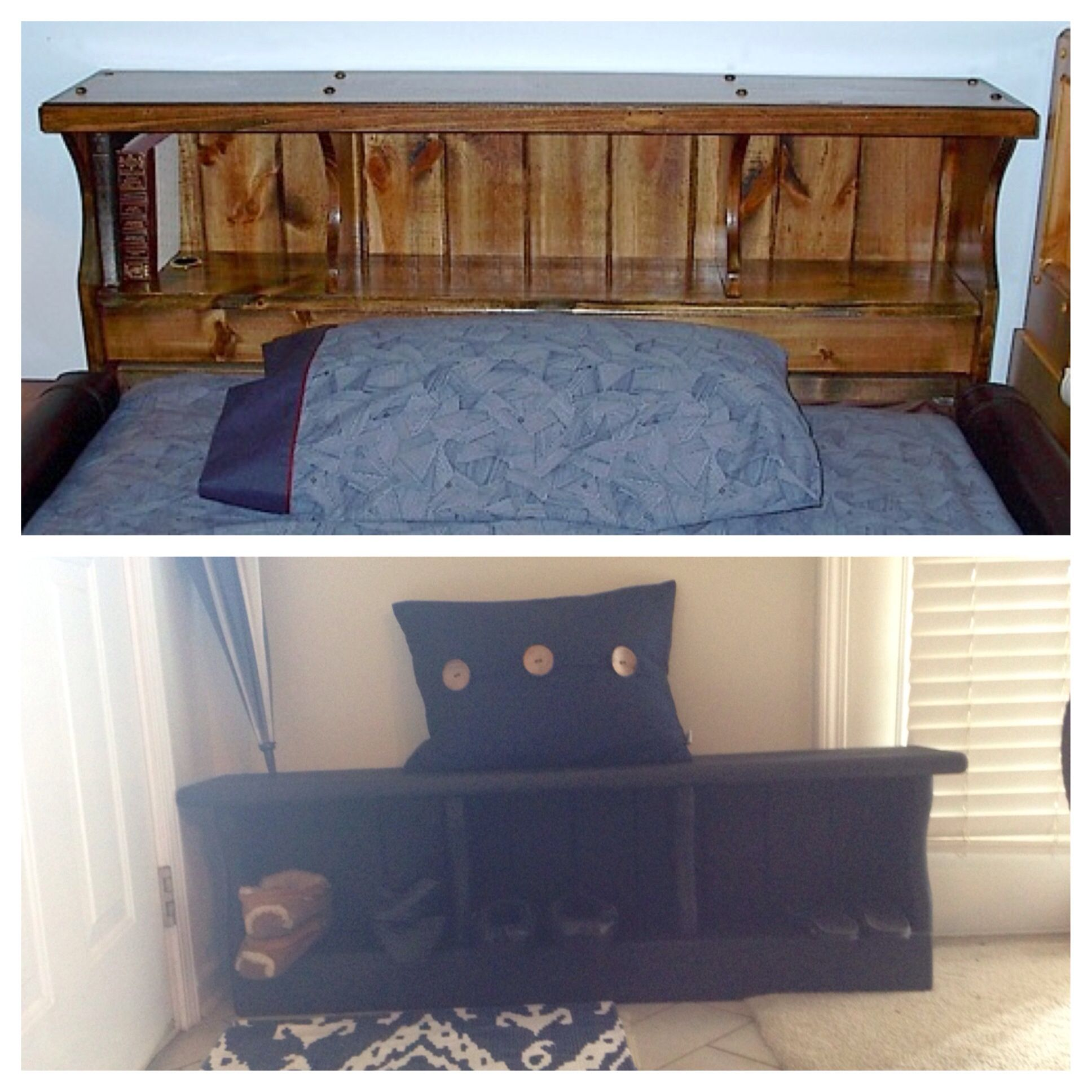 Does Goodwill Accept Sleeper Sofas Modern Cream Leather Sectional Sofa We Bought An Old Waterbed Headboard At And