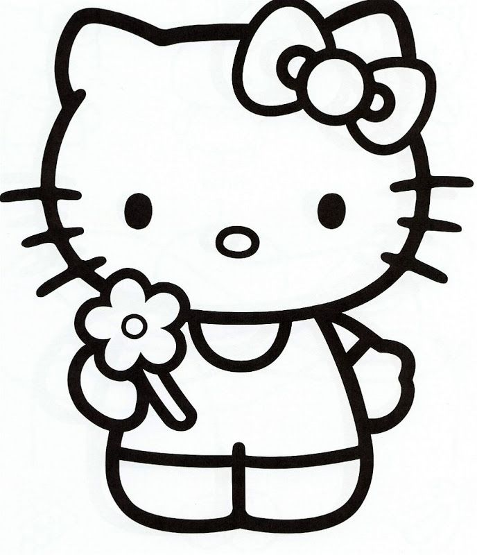 hello kitty coloring pages free the coloring pages - Kitty Coloring Pages