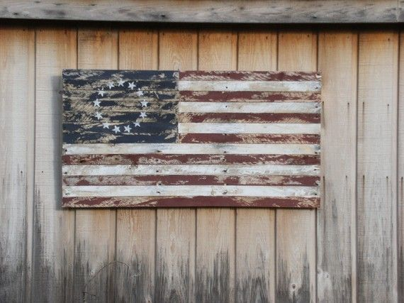 Reclaimed wood flag by rcmivvv on Etsy - This Would Look Great On The Porch! Odds Pinterest Shabby