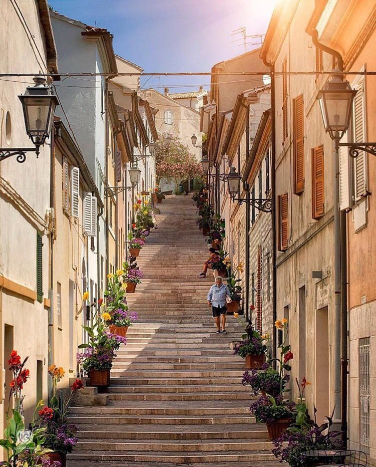 Numana italiana), Marche, Ancona, Itália nel 2019