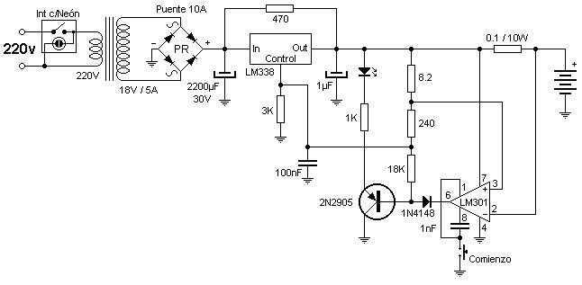 Scheme Diagram of Electric Car Battery Charger (With