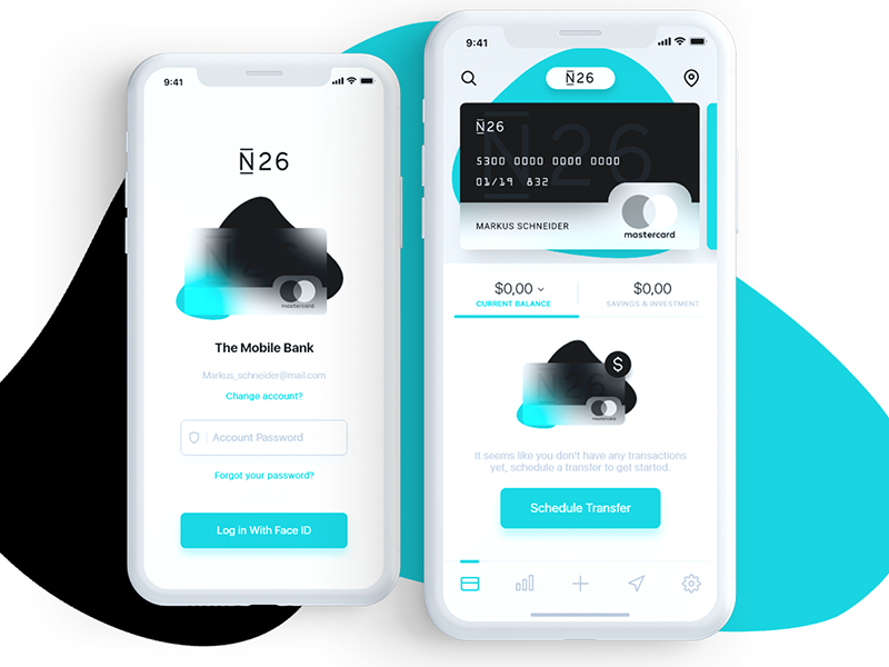 N26 Mobile Bank Redesign Mobile Banking Banking App Mobile