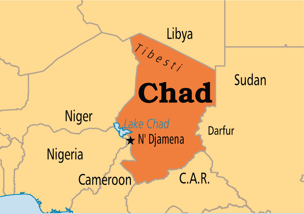 Lake Chad On Map Of Africa.Chad N Djamena 10 Africa States And Capitals African