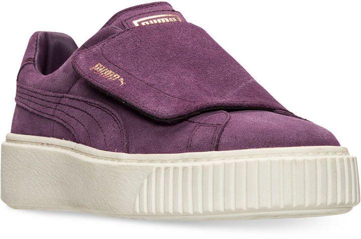 puma sneakers lilla ruskind med velcro 5fd07b7caa moove