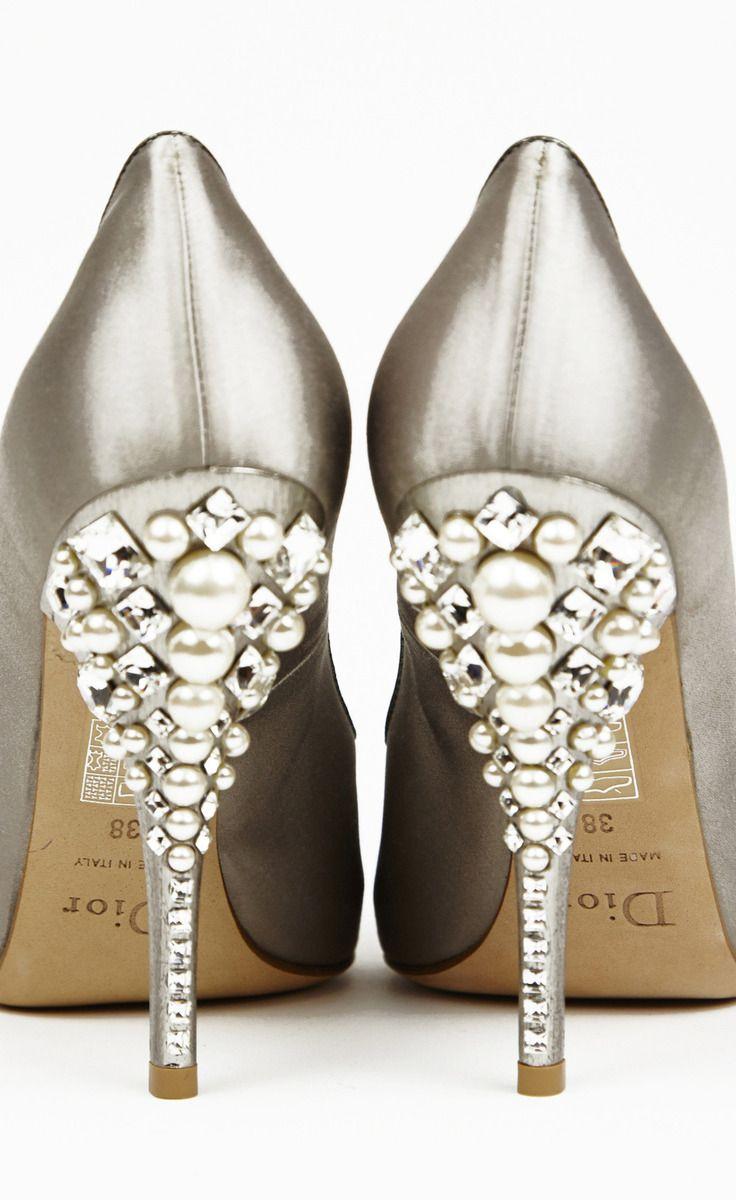 Shoe Glitz Dior Silver And Crystal Ptoe