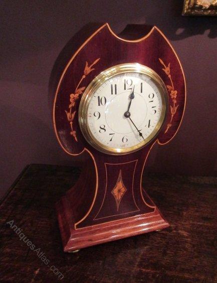 Edwardian Period Sheraton Inlaid Mantel Clock #edwardianperiod