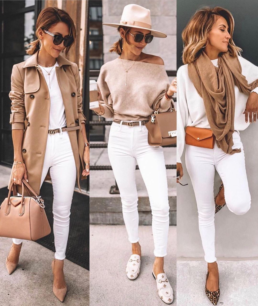 """DOSES OF STYLE on Instagram: """"Fall style 🤩 Left, right or center? 👇 By @karinastylediaries"""""""