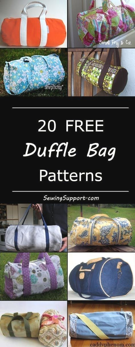 Free duffle duffel bag diy projects sewing patterns and tutorials Cute bags great dance or gym bags and for kids