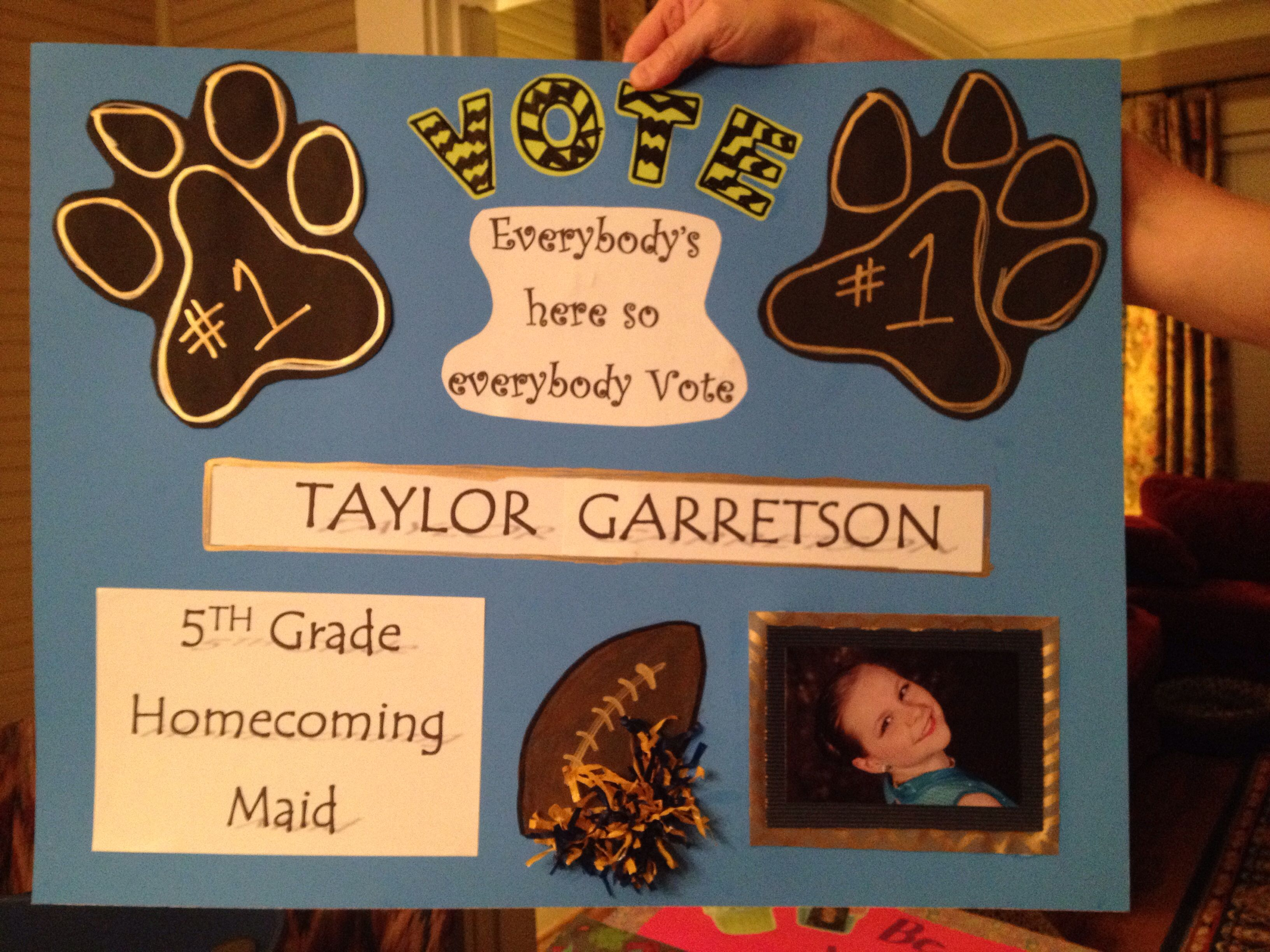 school poster for homecoming election voting poster. Black Bedroom Furniture Sets. Home Design Ideas