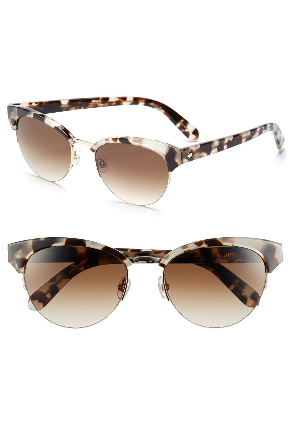 Classy Kate Spade cat eye sunglasses in speckled tortoise