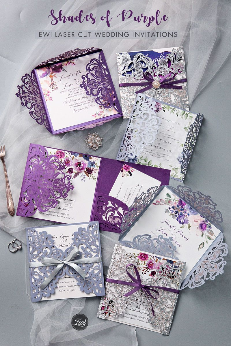 Purple Wedding Invitations By Elegant Wedding Invites Elegantweddinginvites Purple Wedding Invitations Printing Wedding Invitations Purple Wedding