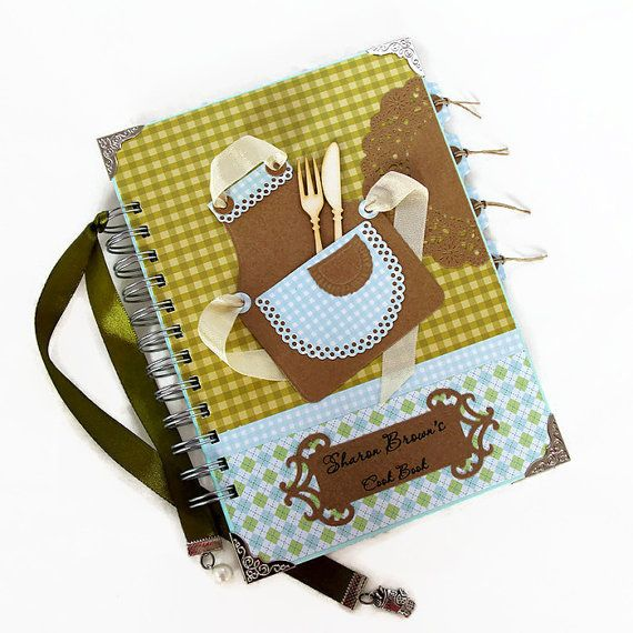 Personalized Blank Recipe Book Handmade by PreciousLifeMoments