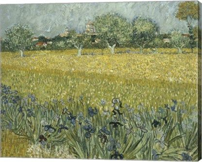 Title View Of Arles With Irises Color Wheat And Celery Green Art Artist Vincent Van Gogh Vincent Van Gogh Art Artist Van Gogh