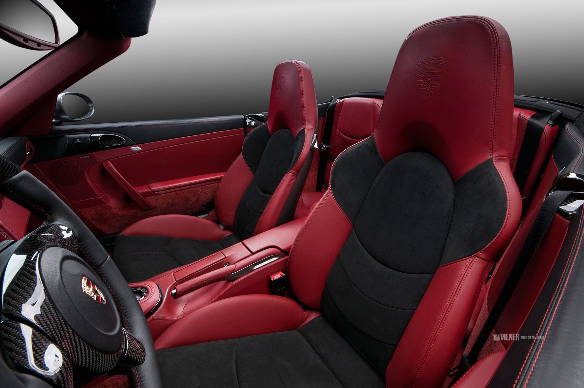 fine red nappa leather and black alcantara complimented by rh pinterest com
