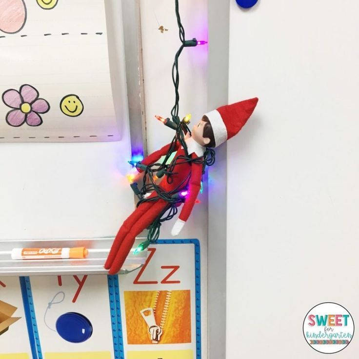 15 Easy Ideas for Elf on the Shelf in your Classroom | Sweet for Kindergarten 15 Easy Ideas for Elf
