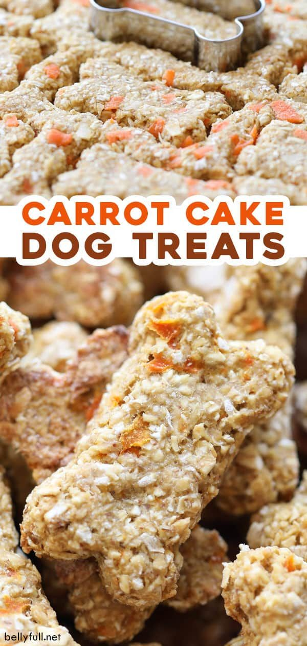 These Easy Homemade Dog Treats Are Made With Some Of Your Favorite Carrot Cake Ingr Dog Treats Homemade Recipes Dog Biscuit Recipes Healthy Dog Treats Homemade