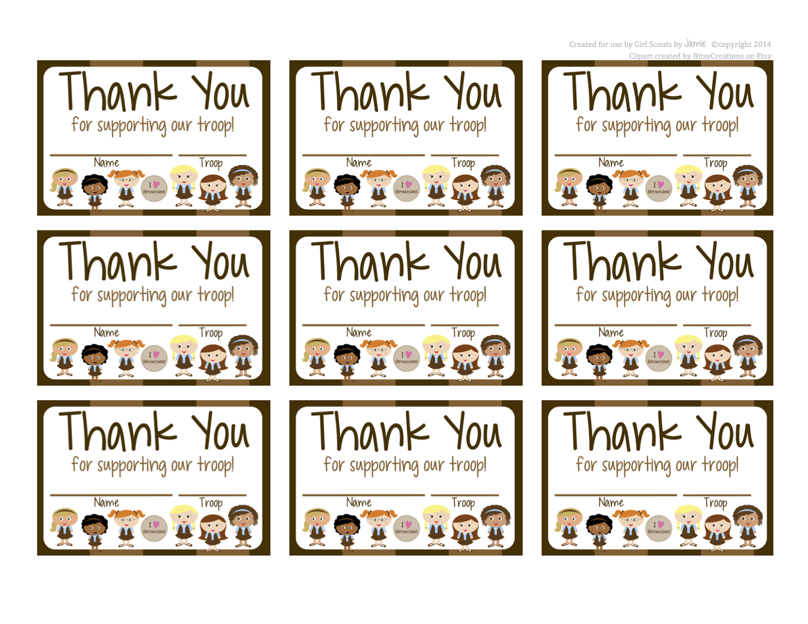 Fashionable Moms Girl Scouts Brownies Free Printable