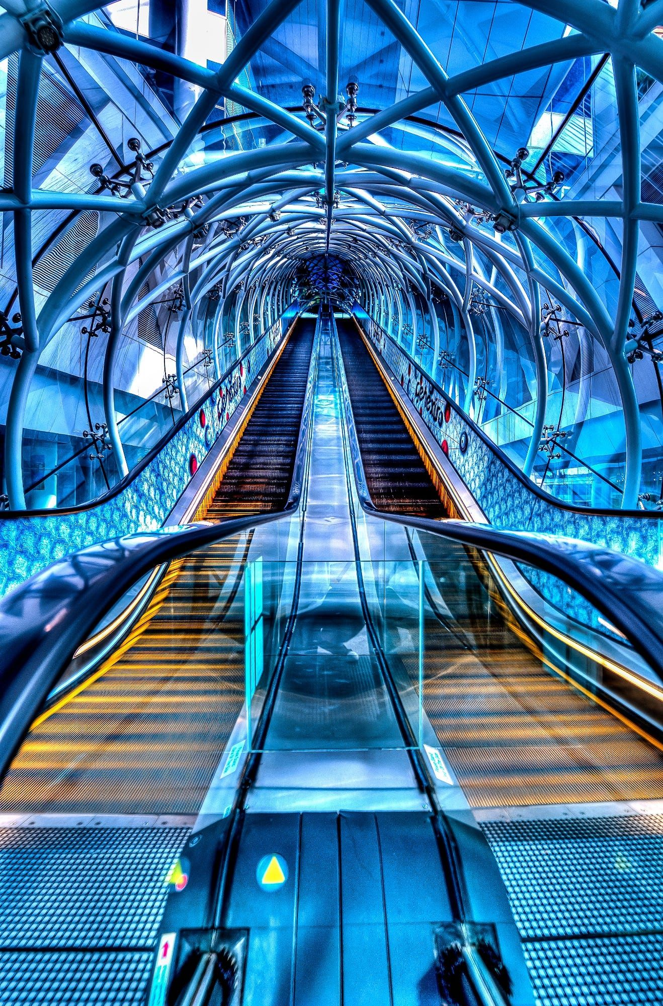 Fusion Escalator By Edward Tian Architectural Photography