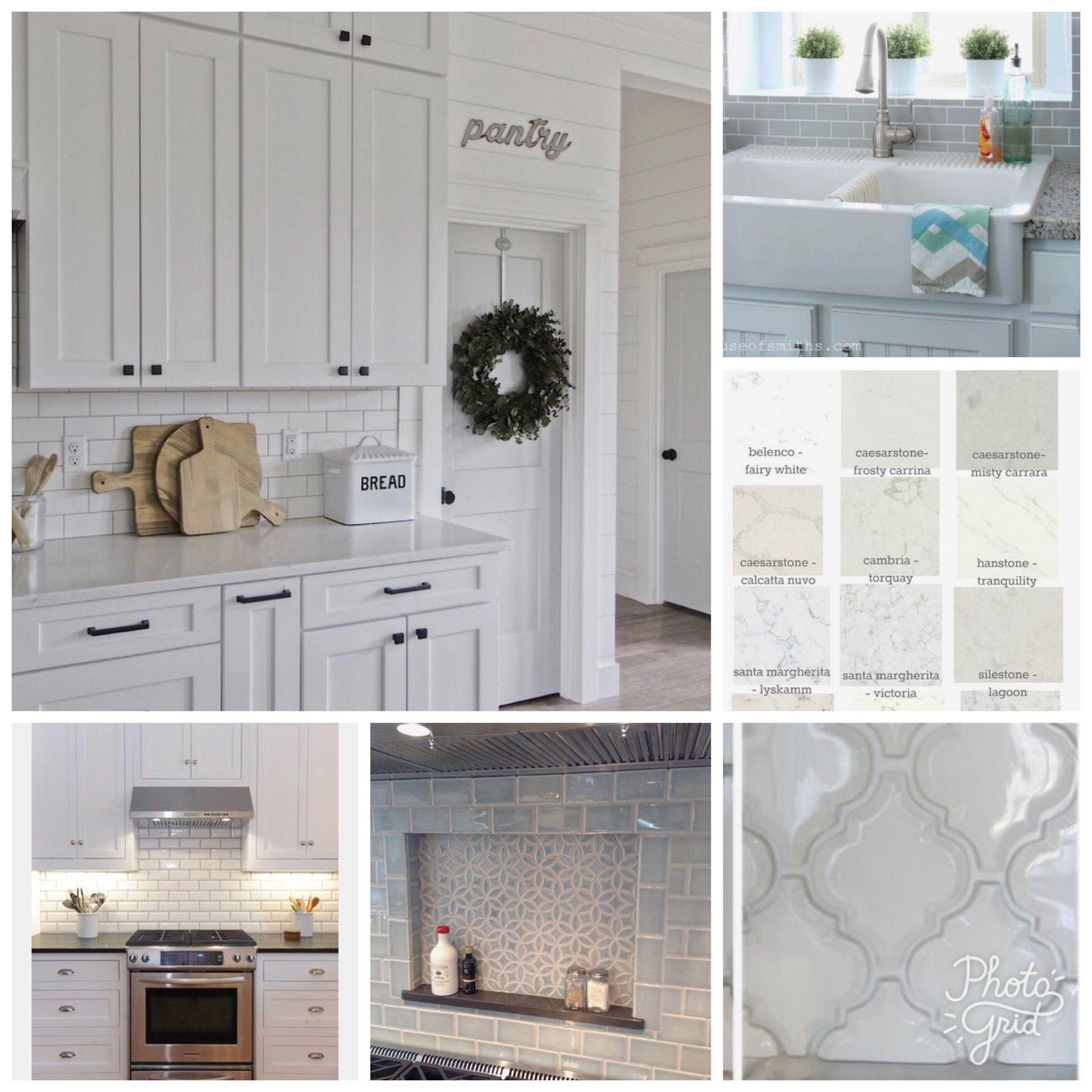 #mykitchenLookBook 1) white shaker cabinets w hidden ...