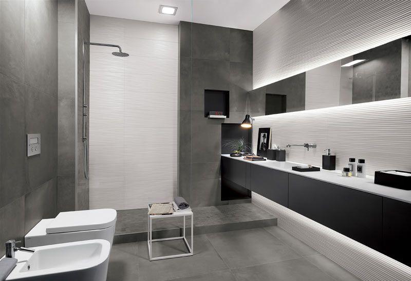 Bagno Colori Neutri : Piastrelle d tridimensionali per il bagno arredamento d interni