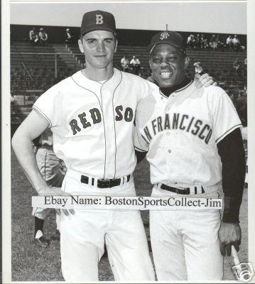 Tony C And Willie May Willie Mays Boston Baseball Baseball Inspired