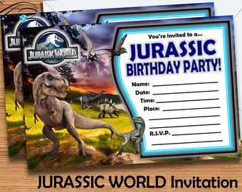 Free Printable Jurassic World Invitations