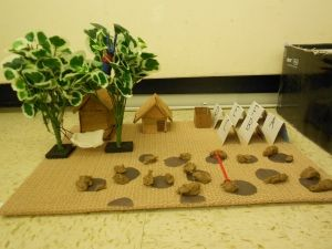 "Our diorama projects for the novel ""Holes"". They did a great job! Check it out!"