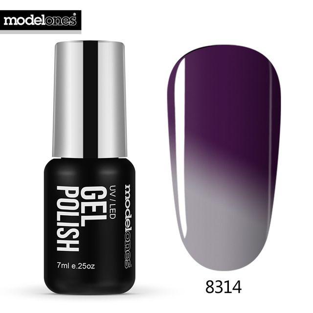 Modelones 7 ML Gris Termo Cambio de Color de Uñas de Gel UV Esmalte ...