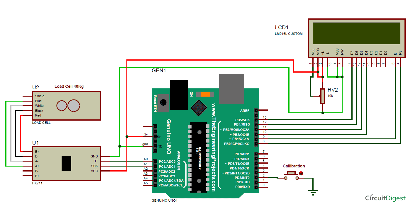 Arduino Weight Measurement Project With Load Cell And Hx711 Module Rain Detector Circuit Schematic Diagram Interfacing Code