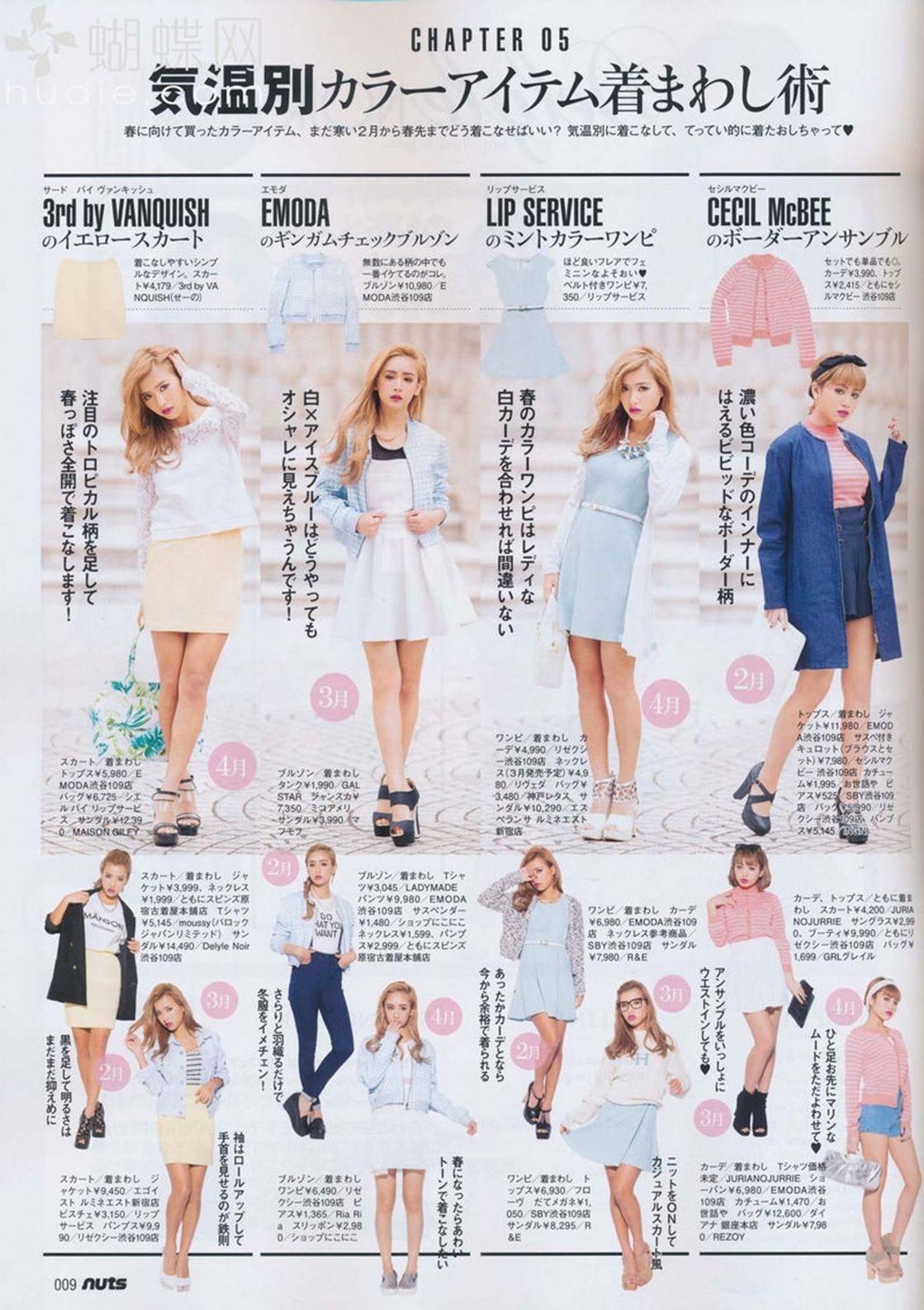 gyaru magazine, happit nuts, outfits