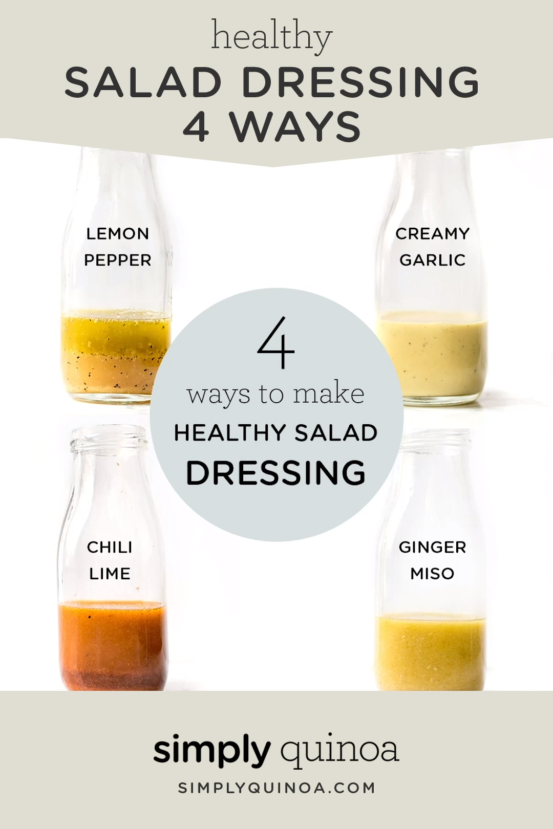 Photo of Healthy Salad Dressing: 4 Different Ways