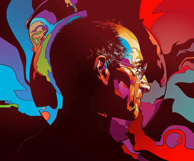 Steve Jobs for Wired Magazine by Martin Ansin