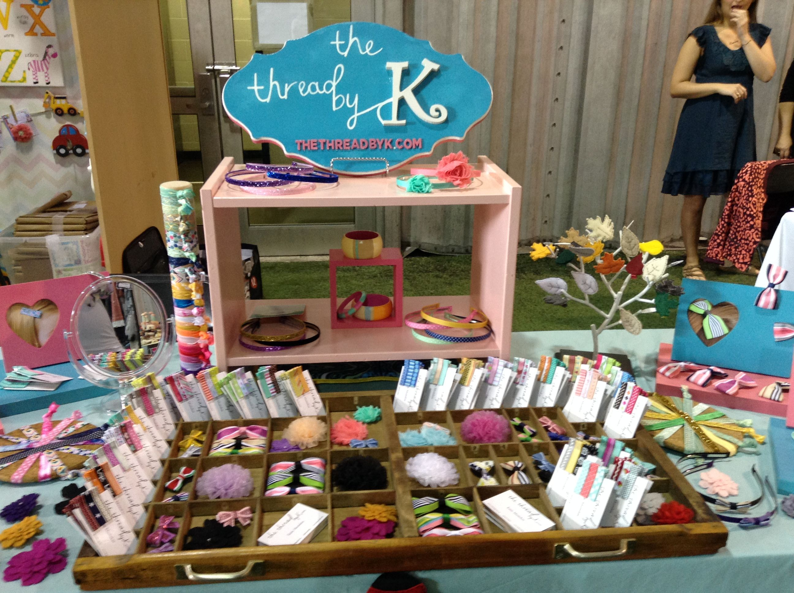 Cute craft show display for hair accessories and baby hair clips!