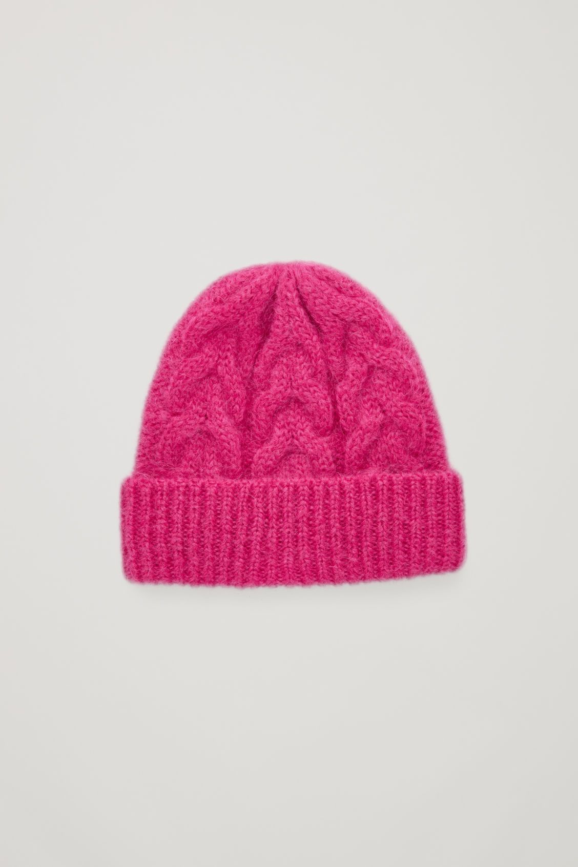 58c889d869a Front image of Cos cable-knit hat in pink