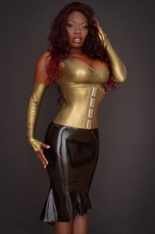 Apologise, but, black women in latex this