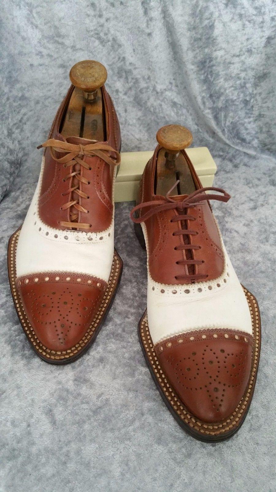 680c039d578f 1930 40s B.L. J. CUSTOM BUILT US 8 8.5 D VTG mens SPADE SOLE shoes ...